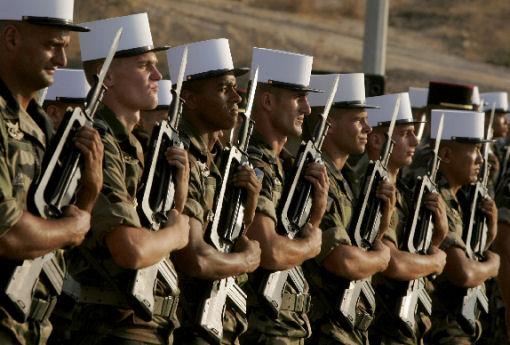 alistados en la legion extranjera