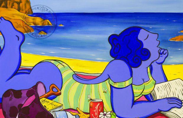 Mujeres azules menorca arte
